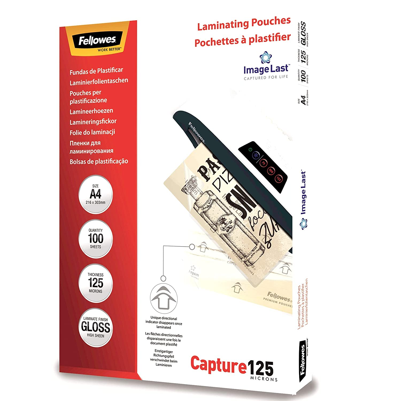 Confezione da 25 Pezzi Formato A3 Fellowes 5396501 Pouches Lucide Capture125 125 Micron