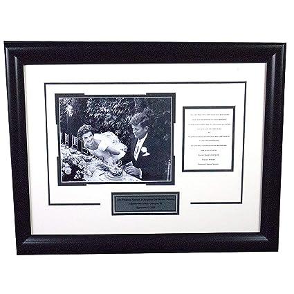 john f kennedy replica wedding invitation 18x24 framed collage jjkw
