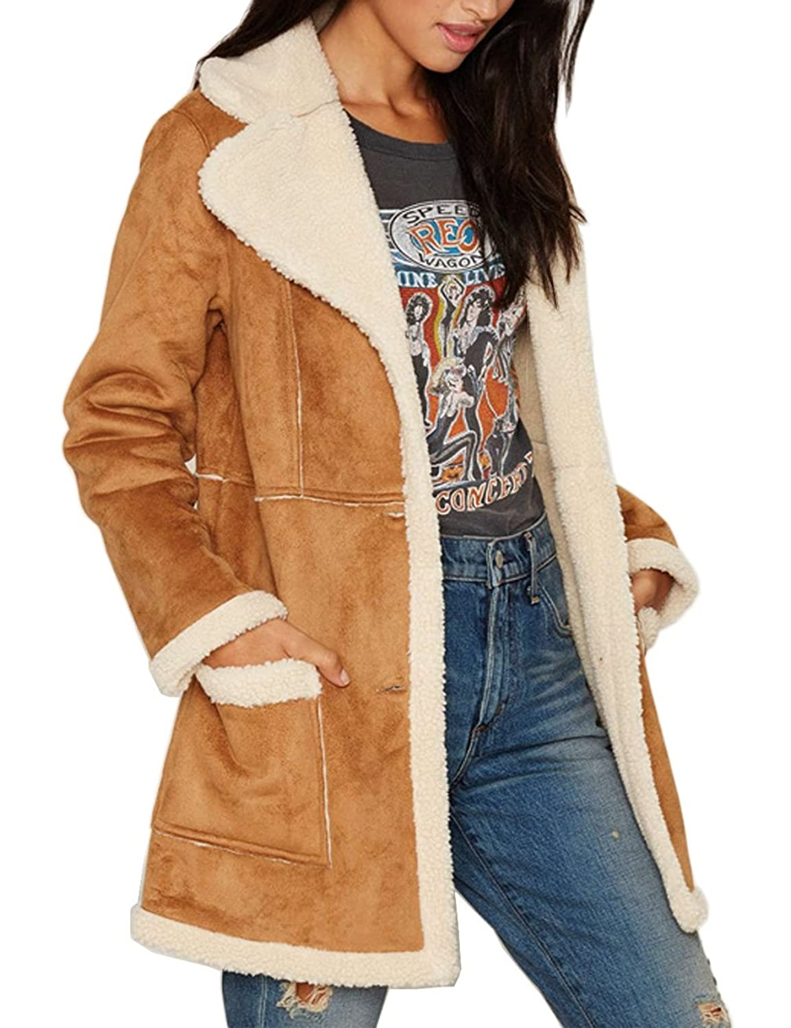 Womens suede jackets coats