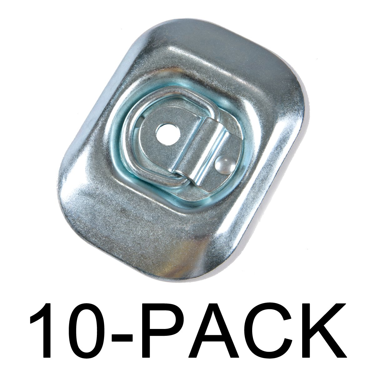 Surface Mount Tie Downs D-Ring 4,000 lb. Capacity Tiedown 10-Pack