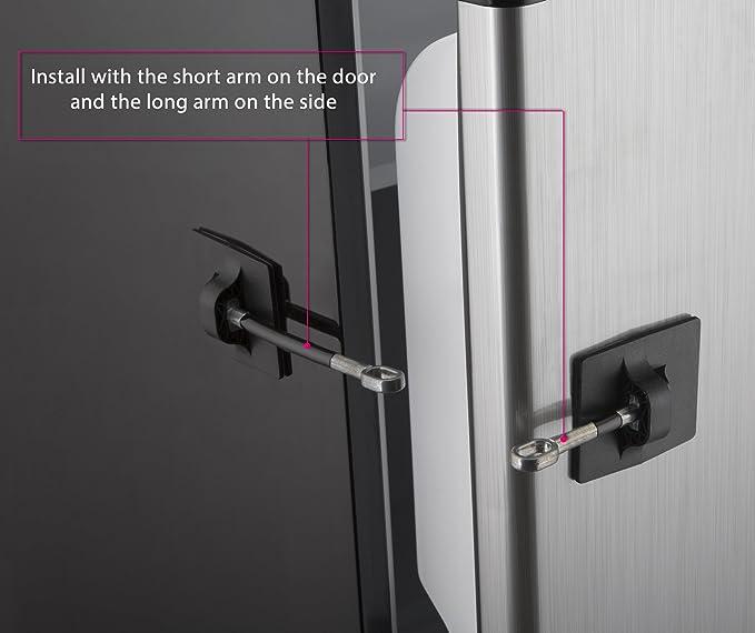 Réfrigérateur Verrou de porte avec cadenas – Noir: Amazon.es: Hogar