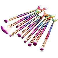 Tenmon 10 Pcs Makeup Brush Set Professional Eye Makeup Brushes For Eyeshadow Concealer Eyeliner Brow Blending Brush Tool