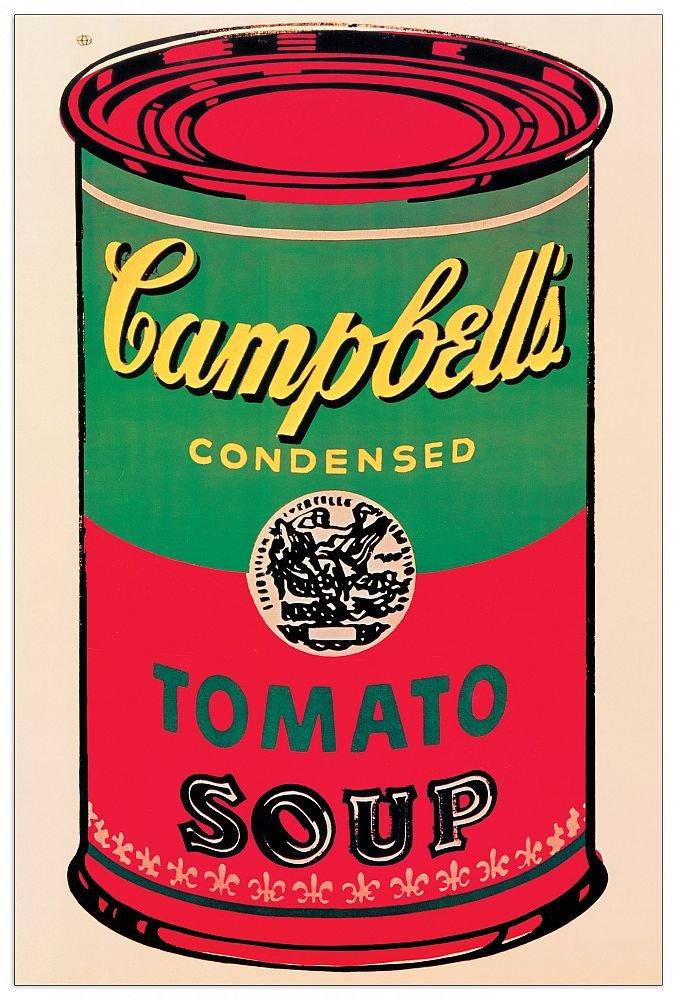 Artopweb TW21548 WARHOL - Campbell Soup Can 1965 Dekorative Paneele, Holz, Multifarbiert, Maßnahmen: 60 x 90 Cm