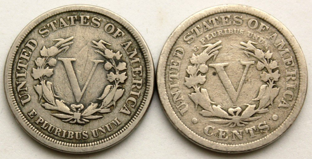 LIBERTY V NICKEL ONE ROLL 40 COINS CULL CONDITION 1883-1912 LOT 40