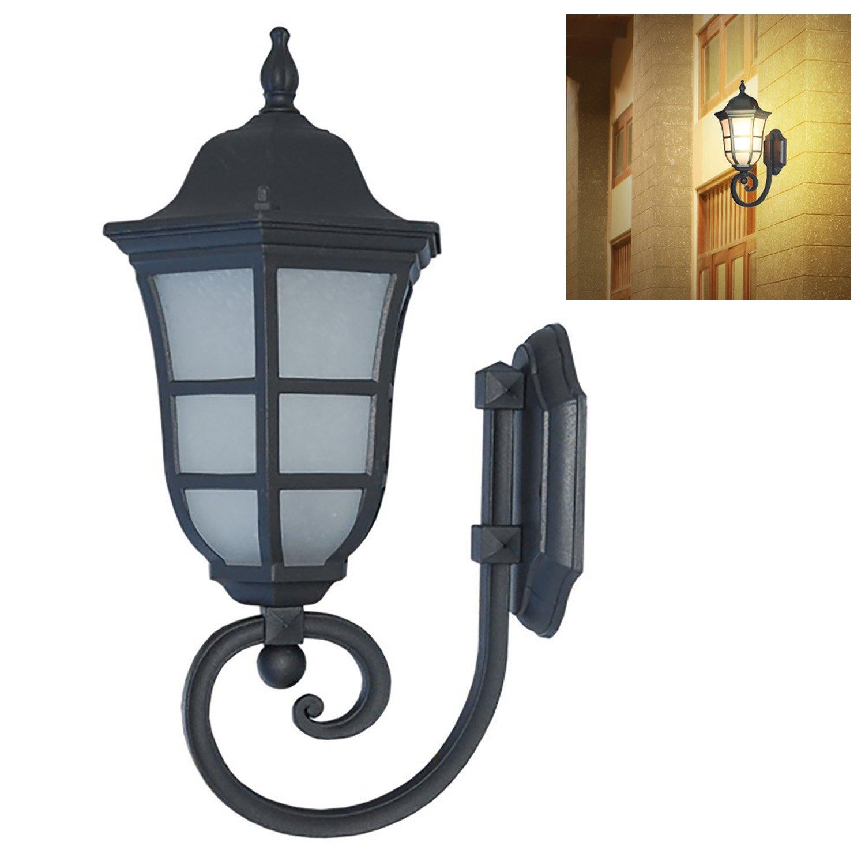 "ETOPLIGHTING 17.5"" Matte Black Finish Outdoor Home Deco Wall Lantern Lighting Fixture, APL2068"