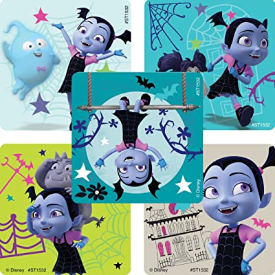 SmileMakers Disney Vampirina Stickers - Prizes 100 Per Pack: Toys & Games