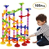 WloveTravel Marble Run Railway Toy DIY Building Blocks Marble Runs Coaster Railway Construction Marble Game for 3 4 5 6+ Years Old Boys Girls Kids Toy