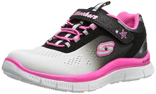Skechers Skech Appeal - Zapatillas para niñas, color negro (bkhp), talla 30