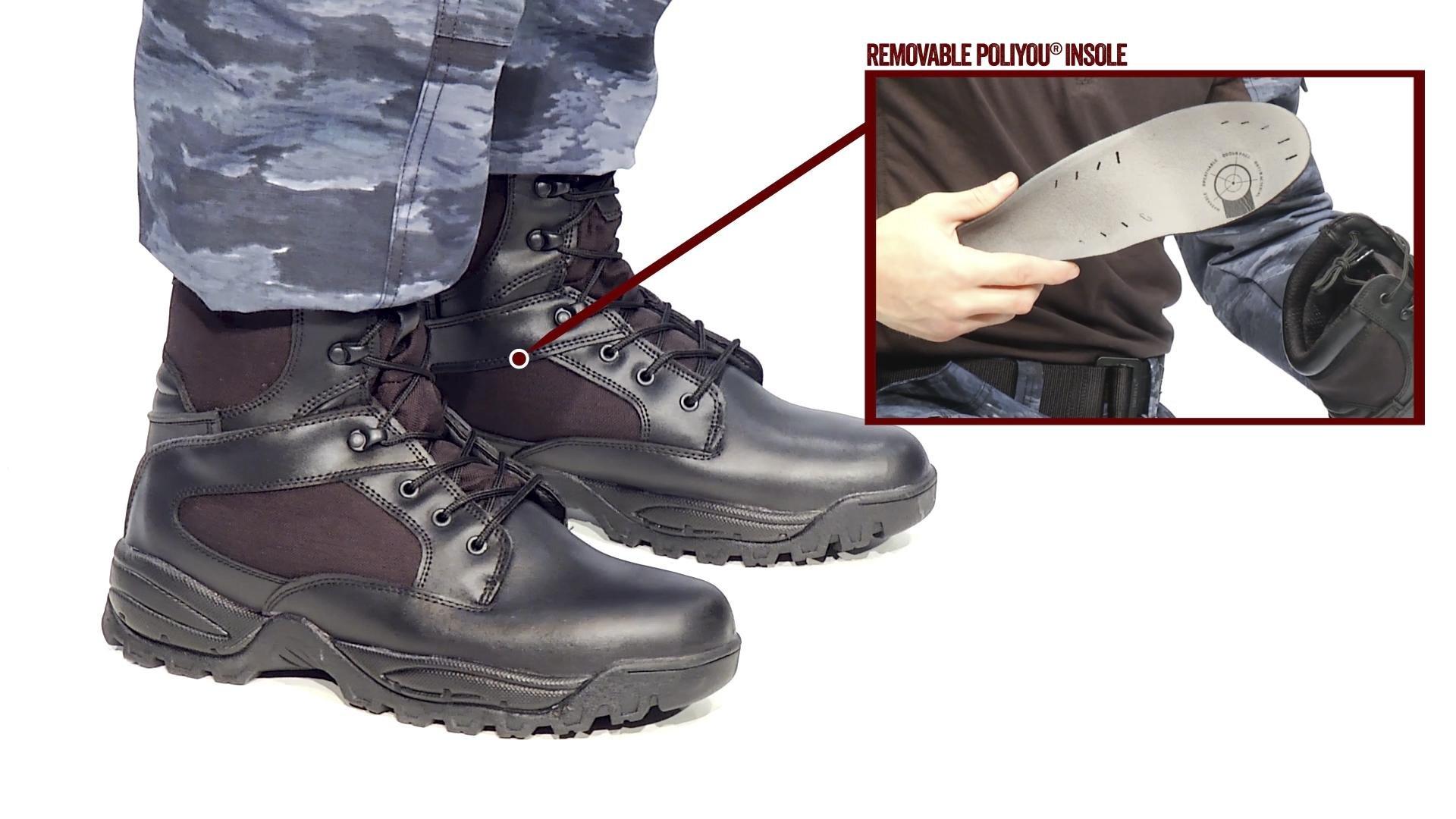 TRU-SPEC 4062012 9'' Tactical Assault Boot, Leather and Cordura Nylon, 13 Regular, Black