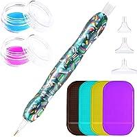 BEIFUMEI Diamond Painting Pen, Diamond Art Pen Adult Handmade Resin Diamond Pen Non-Slip Mat Clay Box Set Suitable for…