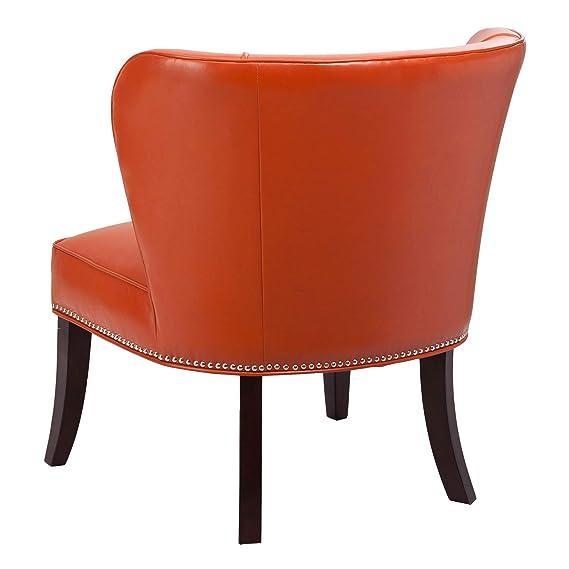 Miraculous Burnt Fpf18 0040 Jla Home Hilton Wingback Orange Faux Pdpeps Interior Chair Design Pdpepsorg