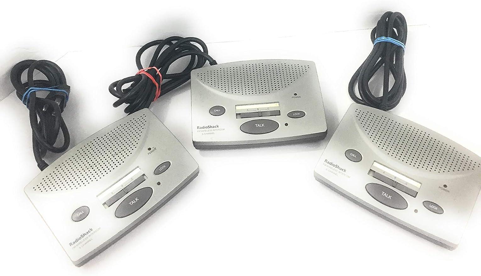 RadioShack 4303105 Advanced 3 Station 3 /'Channel FM Wireless Intercom IL//PL2...