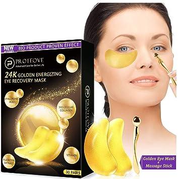 Amazon.com: 30 pares de máscaras de ojos de oro – 24 K puro ...