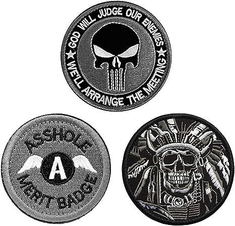 Antrix - Parches militares negros de 3 piezas, diseño de Dios Juez ...