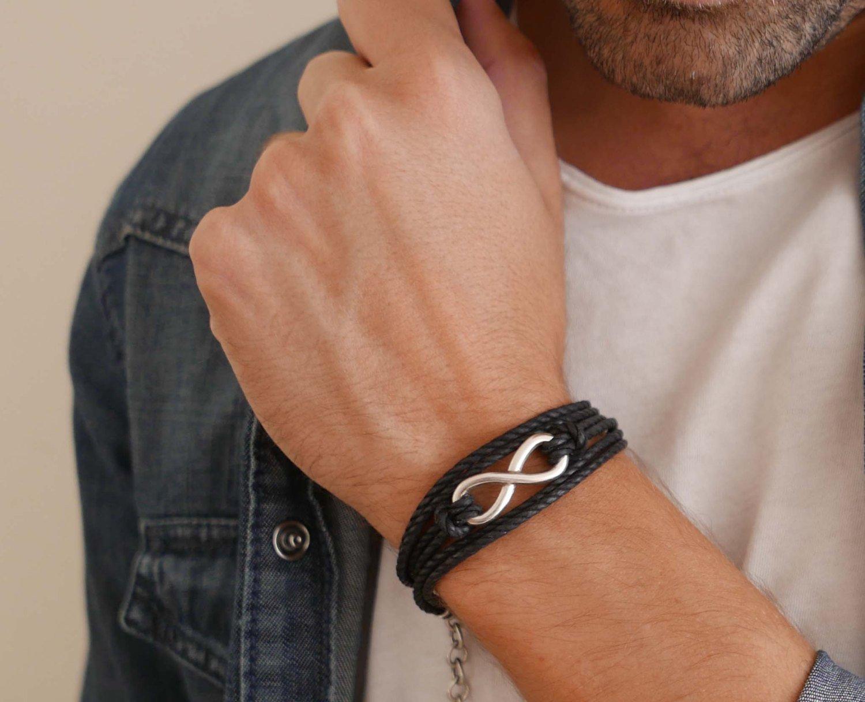 Men's Bracelet - Men's Infinity Bracelet - Men's Vegan Bracelet - Men's Jewelry - Jewelry For Men - Bracelets For men - Male Jewelry - Male Bracelet