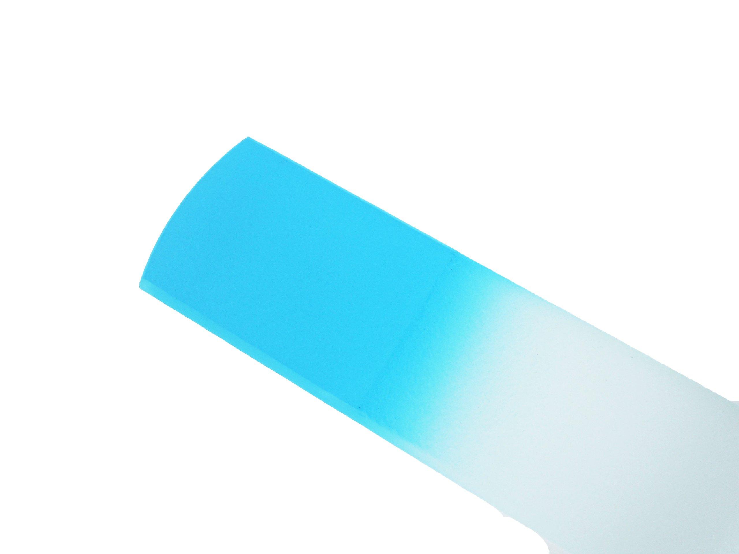 Genuine Czech Sky Blue Crystal Glass 6 1/4 inch Spa Bar Slab Foot File