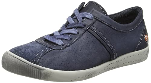 Softinos Women's Ibo355Sof Low-Top Sneakers, Blue (Navy), 4 UK 37