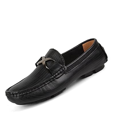 e48b81ae4 Bradleybla Fashion Spring Autumn Casual Men Loafers Slip-On Leather Men s  Driving Shoes Soft Bottom
