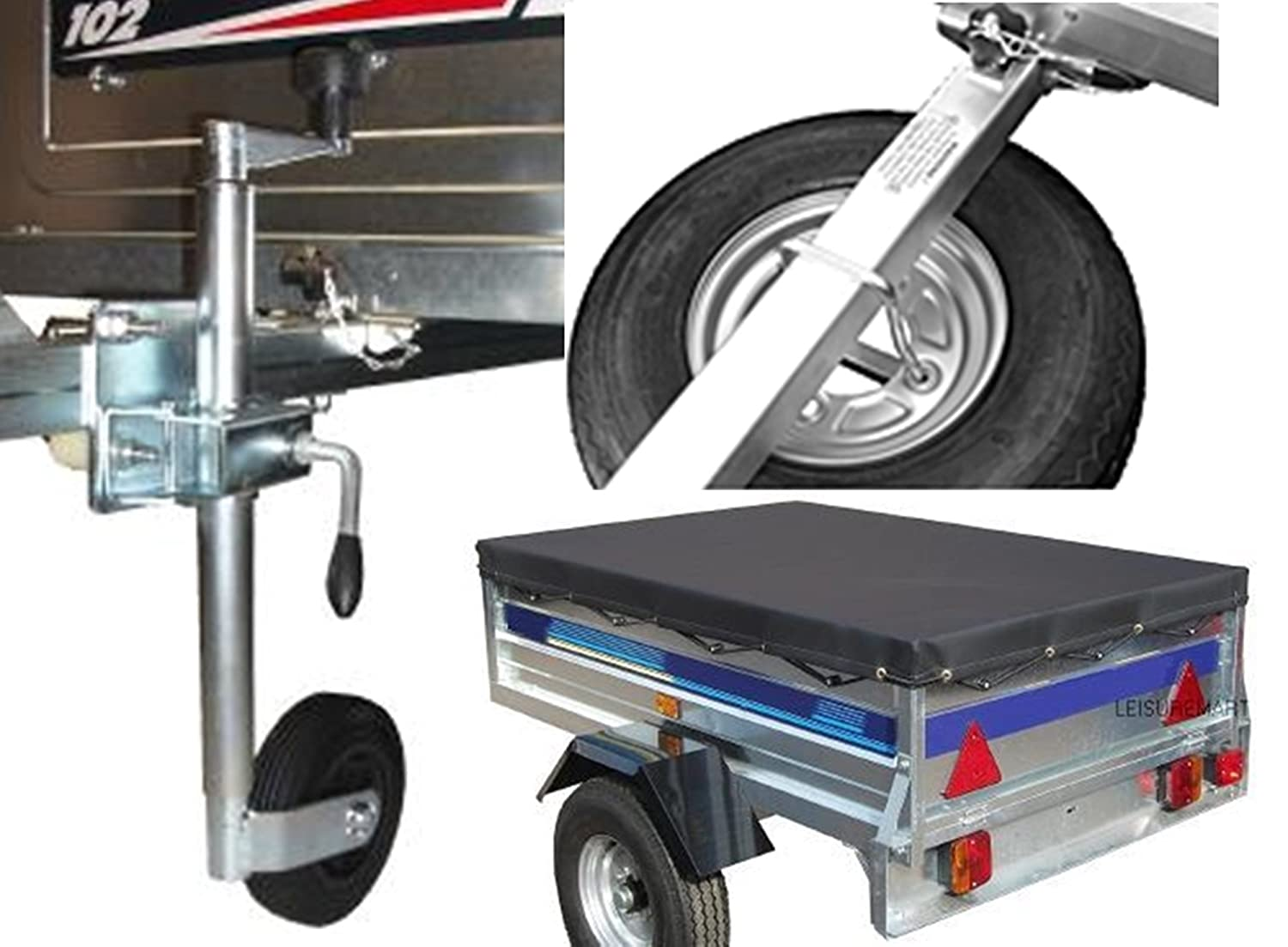 jockey wheel and fixing kit Trailer cover and spare wheel carrier Pt no Accessory kit for Trailer Erde 122 and Daxara 127 includes Spare wheel LMX1441