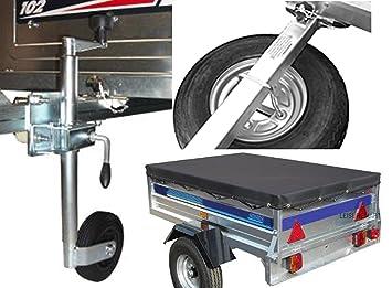 Kit de accesorios para remolque Daxara 107, incluye rueda de repuesto, rueda Jockey y