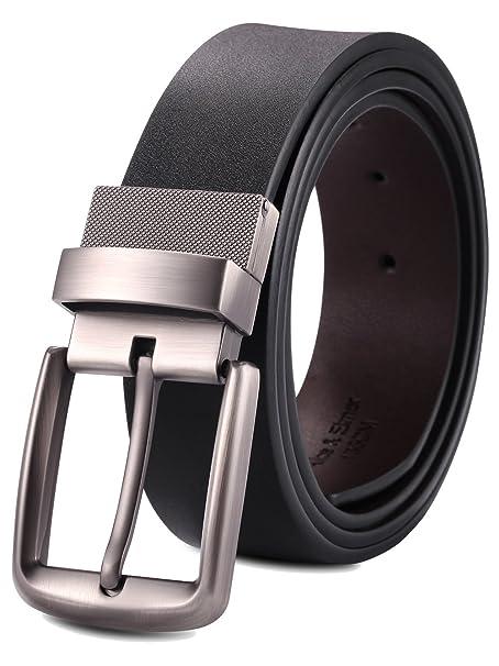 Alice   Elmer Cinturón Cinturones De Cuero Reversible Hebilla Giratoria  para Hombres (Cintura 30  dfdceca132ba