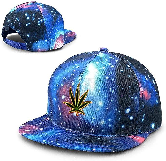 Malezas de Marihuana Flat Unisex Starry Sky Gorras de béisbol ...
