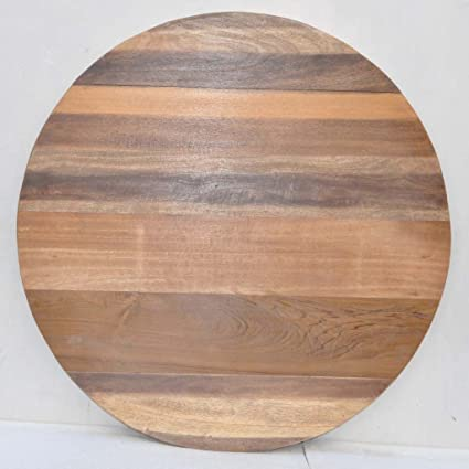 Antique Rustic Reclaimed Wood Round Table Top 36u0026quot; X 36u0026quot;x  1.5u0026quot; Natural
