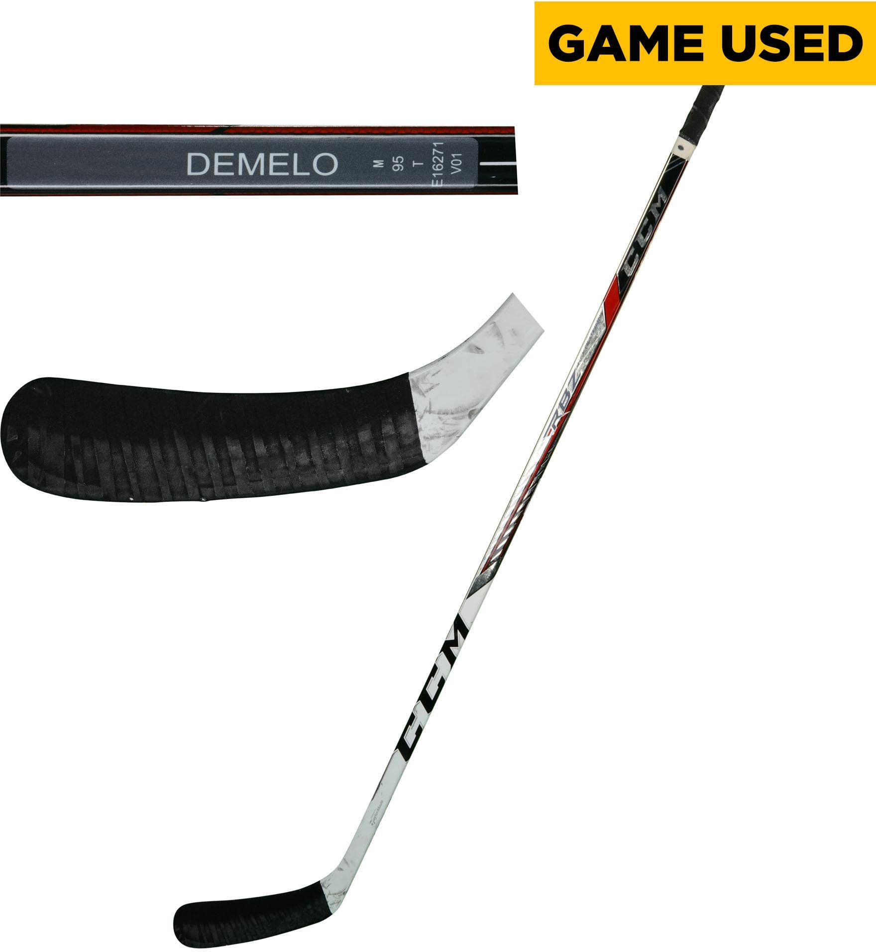 Dylan DeMelo San Jose Sharks Game Used Gray CCM Hockey Stick from the 2017 18 NHL Season Fanatics Authentic Certified