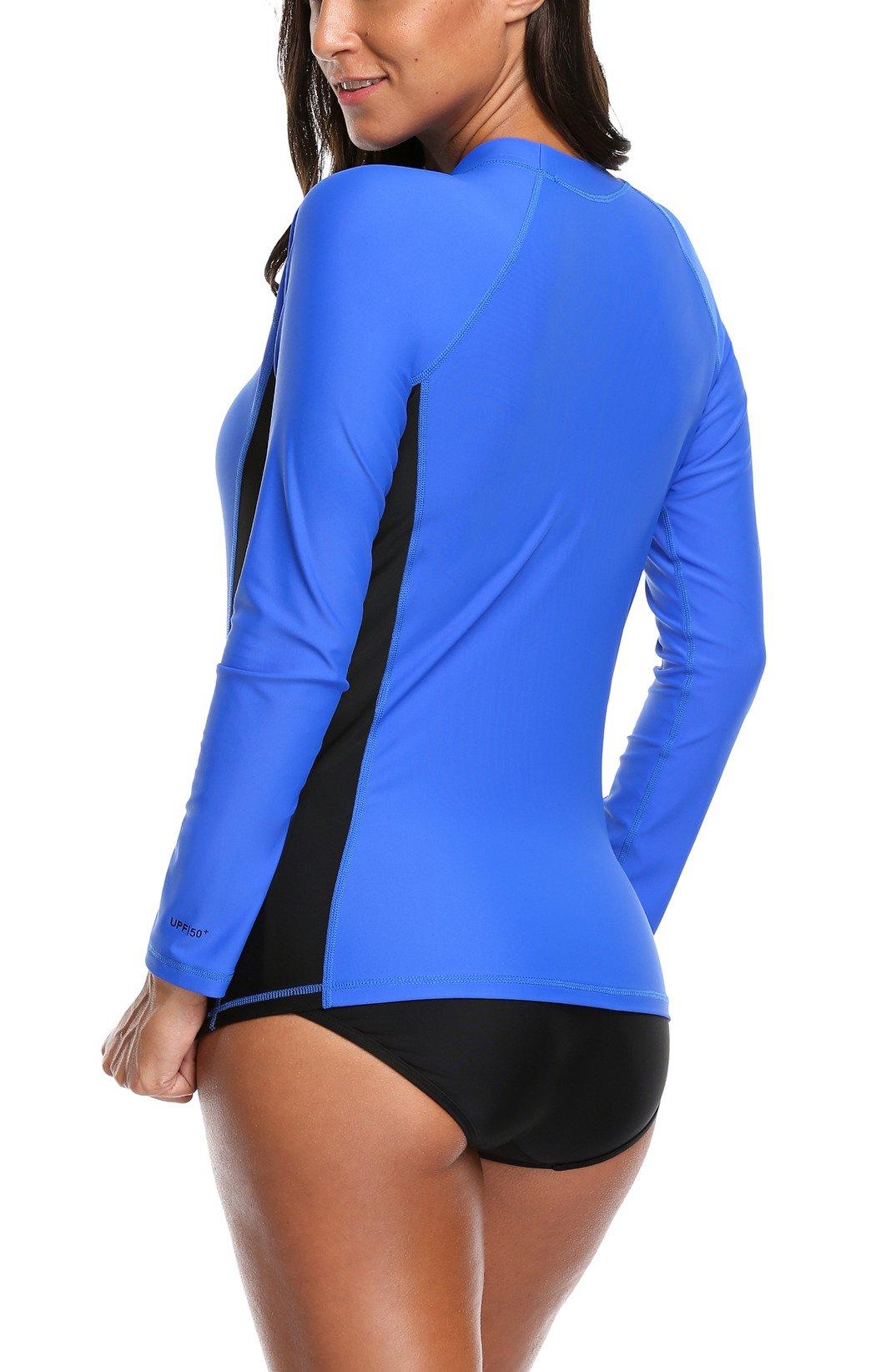 ALove Surf Shirt Rash Guard UPF 50 Athletic Top Womens Surf Rashguard Long Sleeve Medium by ALove (Image #4)