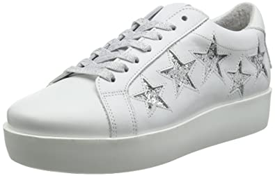 f20f1161da9 Steve Madden Women s Baabs Low-top Sneakers White (White Silver Glitter)  7.5 UK  Buy Online at Low Prices in India - Amazon.in