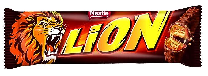 Lion Chocolate con Caramelo y Cereales - Paquete de 24 x 42 gr - Total: