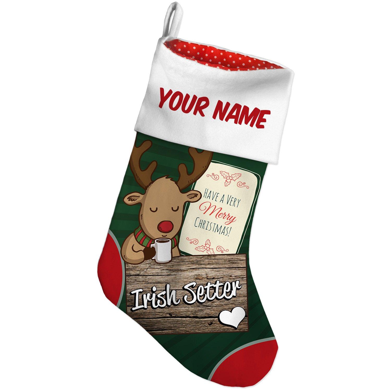 Amazon.com: Christmas Stocking Irish Setter, Dog Breed Ireland Deer ...