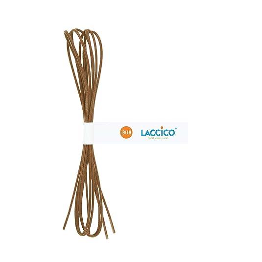 c6787d1bfc684 Amazon.com: LACCICO - Men's Round Waxed Shoelaces Diameter Ø 1/8 ...