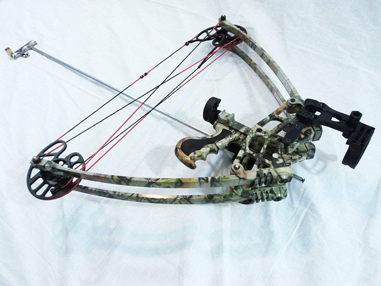 50 lbs, Ambidextrous/Delta Bow with Draw holding device CAMO+ Cylinder quiver ドロー保持装置CAMO +シリンダー弦を備えた50ポンド、両性/デルタボウ