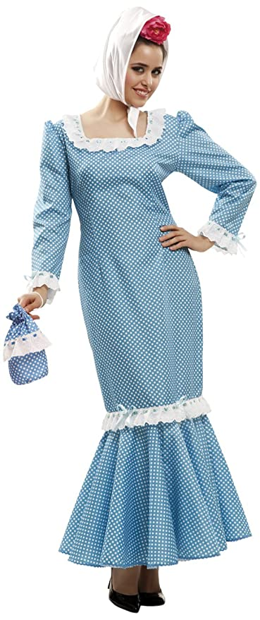 My Other Me Me - Disfraz de madrileña para mujer, talla XL, color azul (Viving Costumes MOM02322)