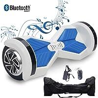 2WD Hoverboard 8'' Scooter électrique, 8 Pouces Scooter électrique d'Auto- équilibrage avec Deux Roues, Bluetooth et LED, UL Certifié - Moteur 2 * 350W