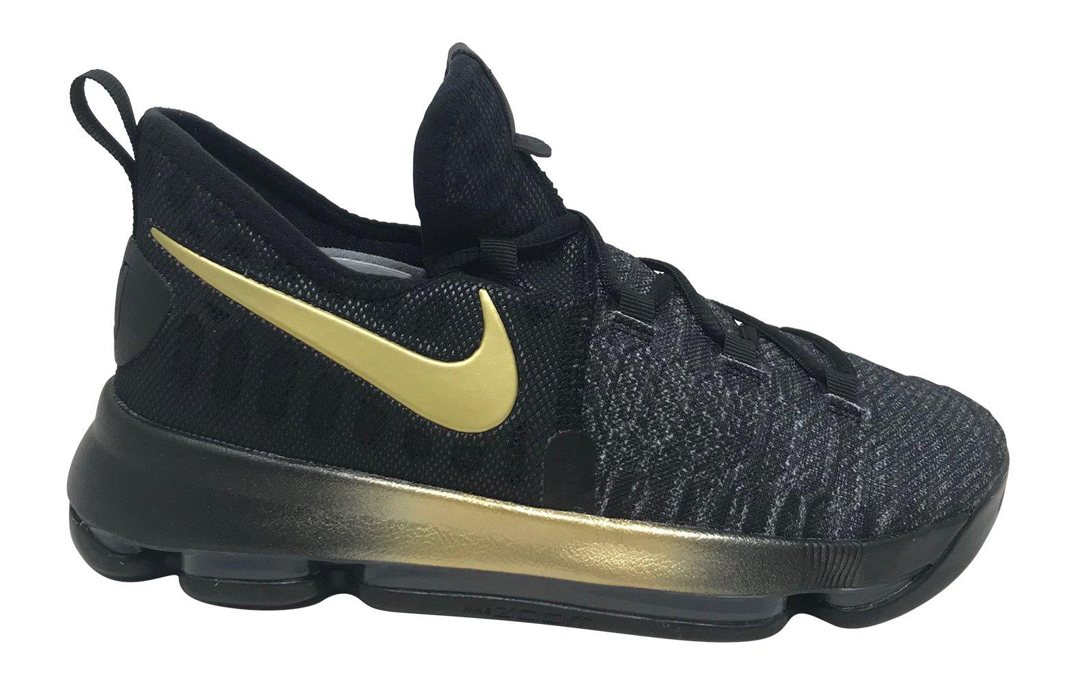 fe8402261552 NIKE Kids Zoom KD 9 (GS) Basketball Shoe Size 6Y Black Tour Yellow