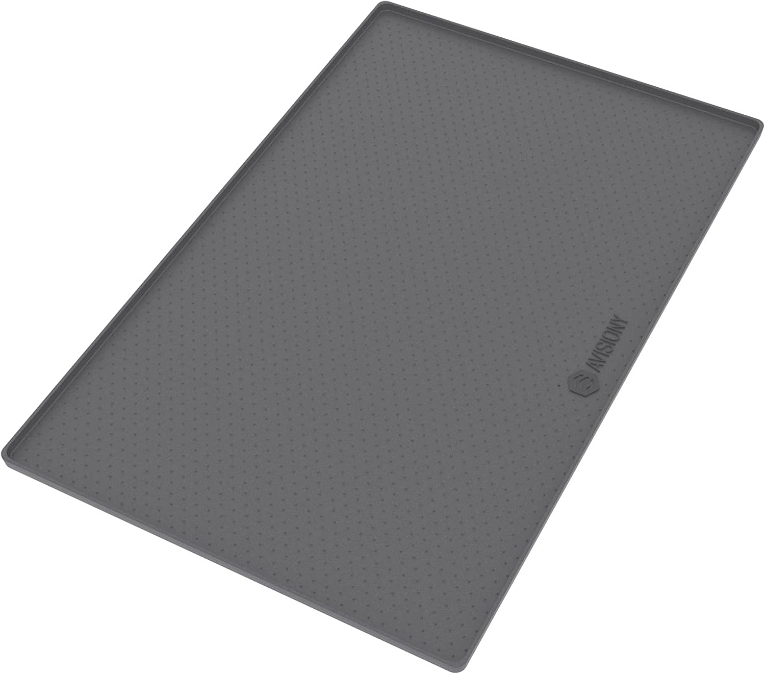 "Pet Mats for Dogs - Dog Mat - Pet Food Mat , Ideal Size 22"" x 14"" - Waterproof Silicone - Mat for Food Bowls Placemats + eBook with Dog / Cat Training Tips and Healthy Recipes by Avisiony"