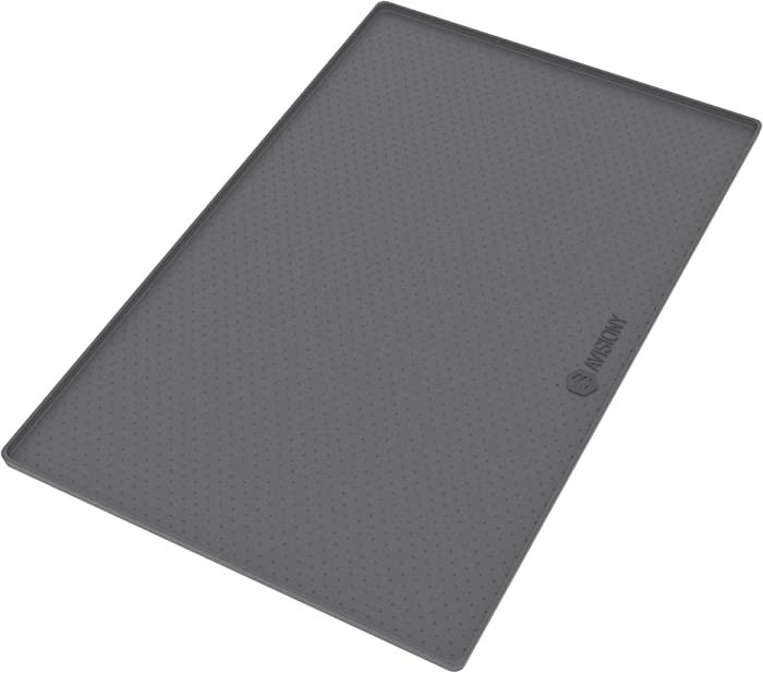 """Pet Mats for Dogs - Dog Mat - Pet Food Mat , Ideal Size 22"""" x 14"""" - Waterproof Silicone - Mat for Food Bowls Placemats + eBook with Dog / Cat Training Tips and Healthy Recipes by Avisiony"""