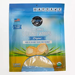 product image for Organic Coconut Wraps, Coco Nori Original (Raw, Vegan, Paleo, Gluten Free wraps) Made from young Thai Coconuts