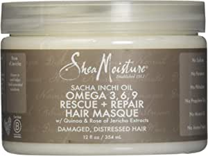 Shea Moisture Sacha Inchi Oil Omega-3-6-9 Rescue and Repair Hair Masque by Shea Moisture for Unisex - 12 oz Masque, 354 ml