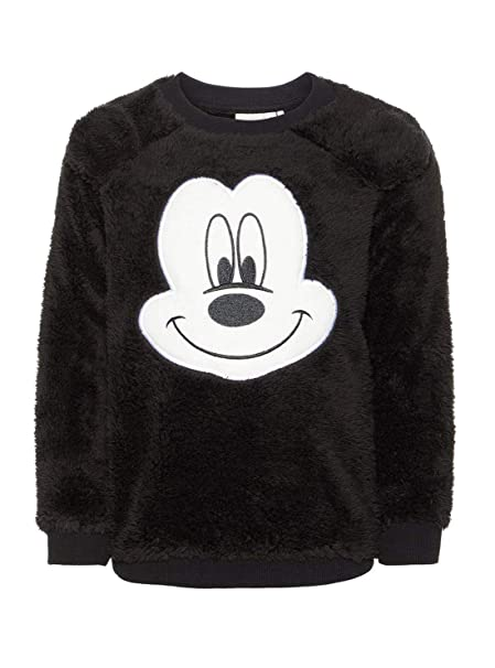 NAME IT Sudadera NIÑO DE Borreguito Mickey Mouse nico - 80, Negro