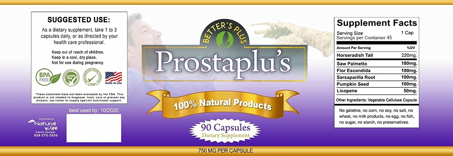 Amazon.com: Prostate Support Capsules - Prostaplus: Health & Personal Care