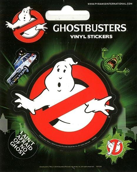 Pyramid international ghostbusters logo vinyl stickers paper multi colour 10