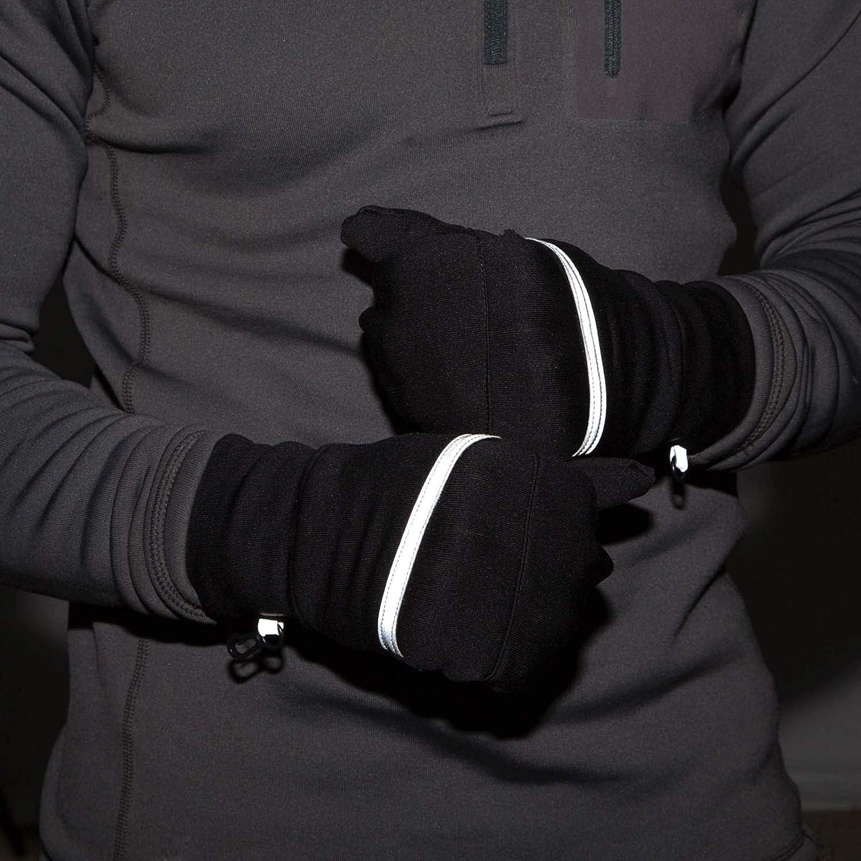 TrailHeads Mens Power Stretch Convertible Mittens Fingerless Gloves