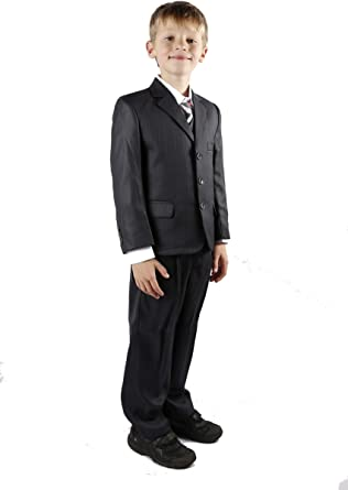 Boys Smart Grey Suit Jacket or Trousers Adjustable Waist wedding party formal