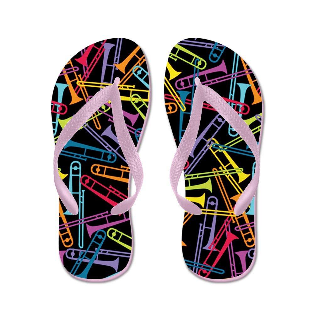 colorful Trombones - Flip Flops Funny Thong Sandals Beach Sandals