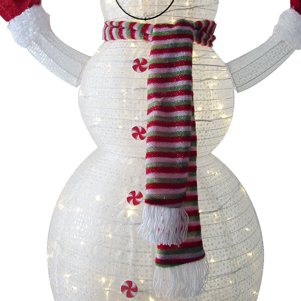 60'' LED Popup Snowman Outdoor Collapsible Lighted Snowman Christmas Yard Decorations with 120 Lights by Jingle light (Image #5)