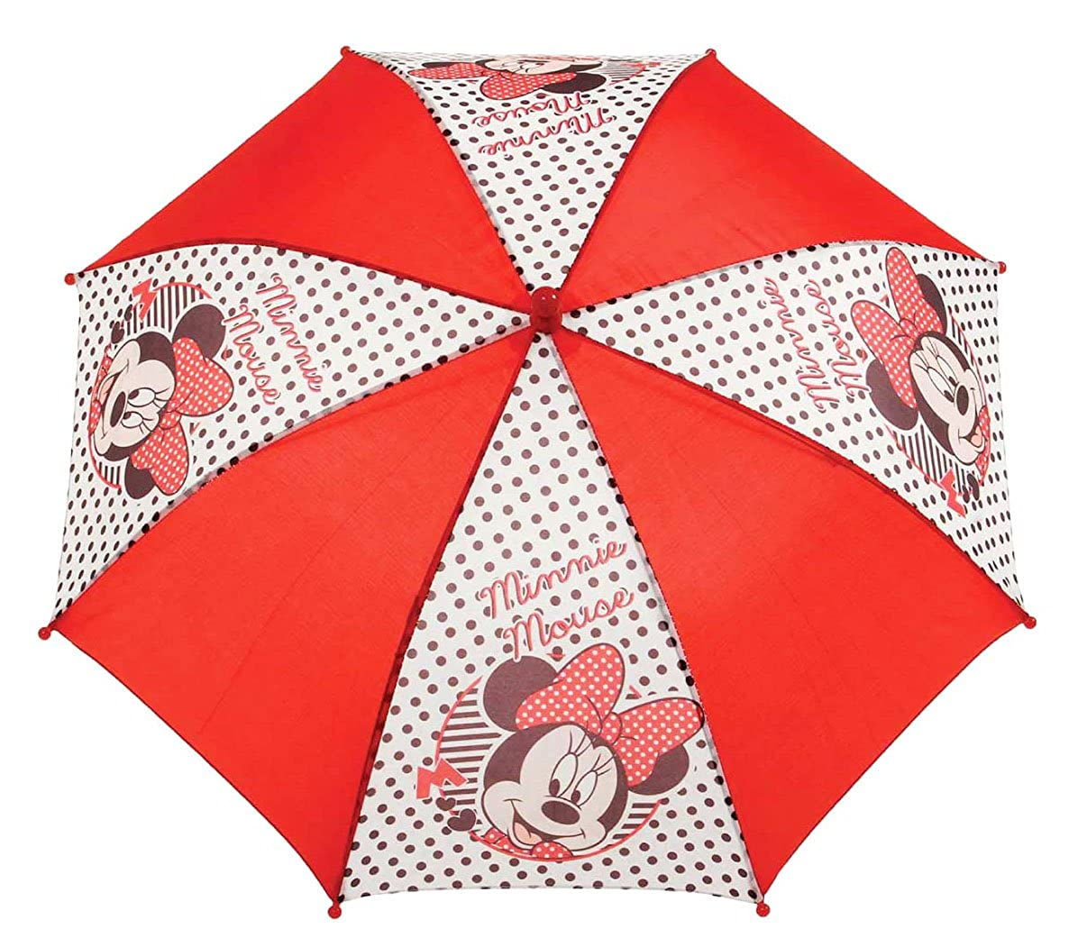 Parapluie enfant fille Minnie Blanc/rouge diamè tre 76cm