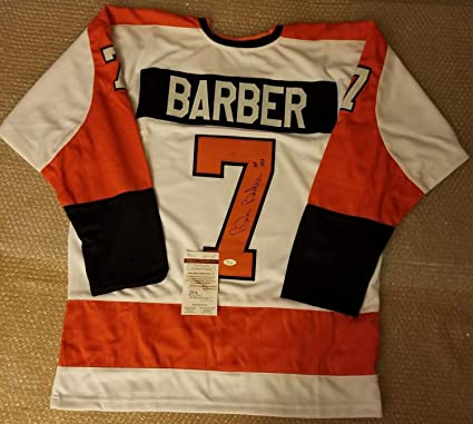 336b9a14a Image Unavailable. Image not available for. Color  Bill Barber Philadelphia Flyers  Autographed Signed Custom Jersey Memorabilia JSA Witnessed COA